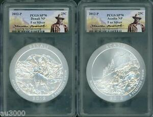 Click now to see the BUY IT NOW Price! 2012 P 5 COIN SET ACADIA HAWAII DENALI CHACO EL YUNQUE ATB 5 OZ SILVER PCGS SP70