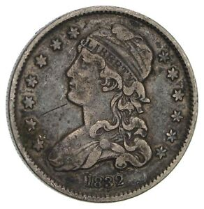 1832 CAPPED BUST QUARTER  CIRCULATED  3474
