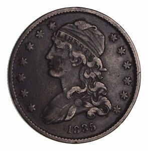 1835 CAPPED BUST QUARTER   CIRCULATED  1637