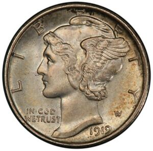 Click now to see the BUY IT NOW Price! 1919 D 10C MERCURY DIME PCGS MS65FB
