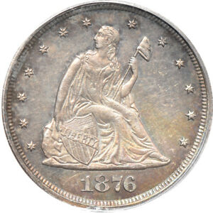1876 LIBERTY SEATED TWENTY CENT PIECE PR / PROOF 63 PCGS 20C C40579