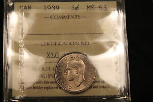 Click now to see the BUY IT NOW Price! 1939 CANADA 5 CENTS NICKEL. MS 65 ICCS LUSTROUS GEM UNCIRCULATED. BV $600