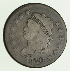 1810 CLASSIC HEAD LARGE CENT   CIRCULATED  4141