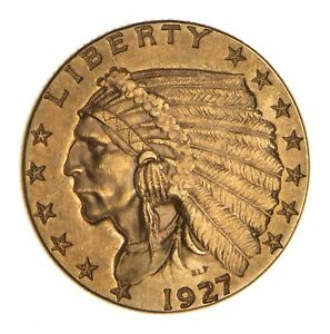 1927 $2.50 INDIAN HEAD GOLD QUARTER EAGLE   UNCIRCULATED  8461