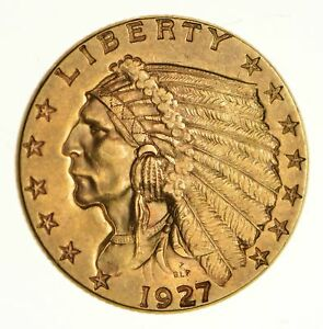 1927 $2.50 INDIAN HEAD GOLD QUARTER EAGLE  5337