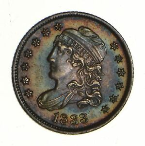 1833 CAPPED BUST HALF DIME   NEAR UNCIRCULATED  7310