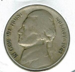 1941 S SAN FRANCISCO CIRCULATED JEFFERSON NICKEL FIVE CENT COIN