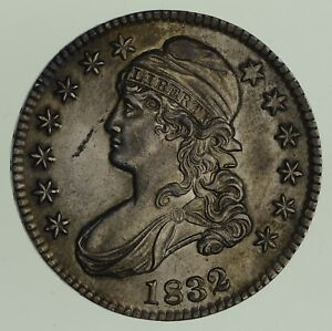 1832 CAPPED BUST HALF DOLLAR   O 102   SMALL LETTERS   CHOICE  7895