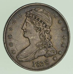 1838 CAPPED BUST HALF DOLLAR   CIRCULATED  7424
