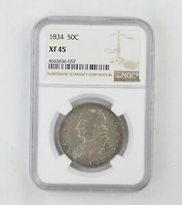 XF45 1834 CAPPED BUST HALF DOLLAR   NGC GRADED  0222