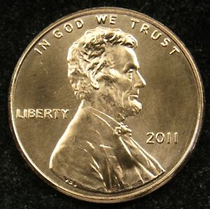 2011 UNCIRCULATED LINCOLN SHIELD CENT PENNY BU  B01