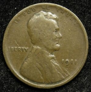 1911 LINCOLN WHEAT CENT PENNY G GOOD  B03