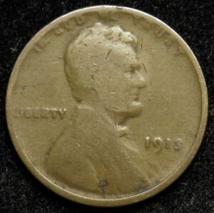 1913 LINCOLN WHEAT CENT PENNY G GOOD  B01