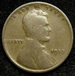 1913 LINCOLN WHEAT CENT PENNY G GOOD  B02