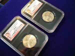 Click now to see the BUY IT NOW Price! 2014 P & D NGC MS68 NATIVE AMERICAN SACAGAWEA DOLLAR