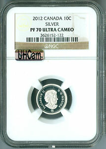 Click now to see the BUY IT NOW Price! 2012 CANADA SILVER 10 CENTS NGC MAC PF70 UHCAM FINEST GRADED SPOTLESS