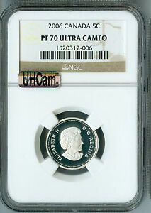 Click now to see the BUY IT NOW Price! 2006 CANADA SILVER BEAVER 5 CENTS NGC MAC PF70 UHCAM  FINEST GRADED SPOTLESS