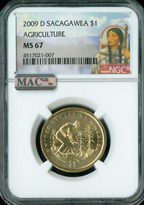 Click now to see the BUY IT NOW Price! 2009 D SACAGAWEA DOLLAR NGC MAC MS67 FINEST BUSINESS STRIKE POP 11 SPOTLESS
