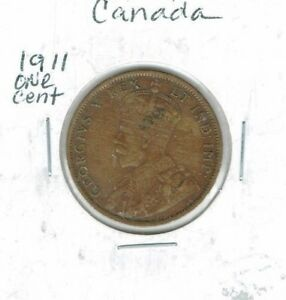 1911 CANADIAN CIRCULATED ONE LARGE CENT GEORGE V COIN
