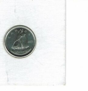 2012 LOGO CANADA BRILLIANT UNCIRCULATED BUSINESS STRIKE TEN CENT COIN