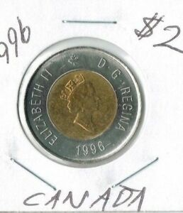 1996 CANADIAN BRILLIANT UNCIRCULATED $2 TOONIE COIN