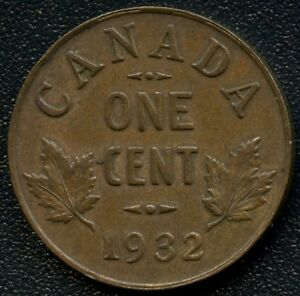 1932 CANADA 1 CENT COIN