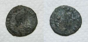 ANCIENT ROME :  BRONZE COIN 4TH CENTURY A.D.    VALENTINIAN I    22MM