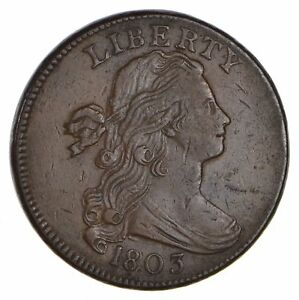 1803 DRAPED BUST LARGE CENT   CIRCULATED  0672
