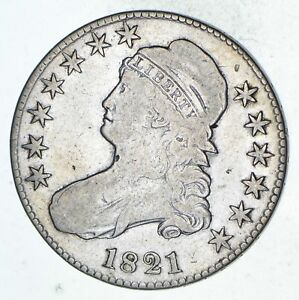 1821 CAPPED BUST HALF DOLLAR   CIRCULATED  9302
