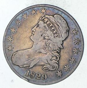 1829 CAPPED BUST HALF DOLLAR   CIRCULATED  9301