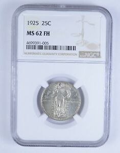 MS62 FH 1925 STANDING LIBERTY QUARTER   NGC GRADED  3194