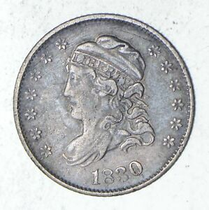 1830 CAPPED BUST HALF DIME   SHARP  9317