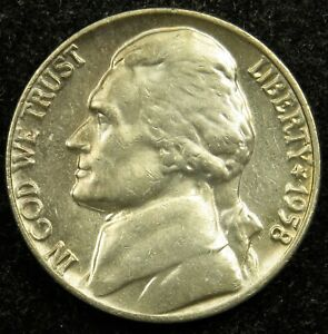 1958 UNCIRCULATED JEFFERSON NICKEL BU  B01