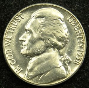1958 D UNCIRCULATED JEFFERSON NICKEL BU  B03