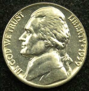 1959 UNCIRCULATED JEFFERSON NICKEL BU  B02