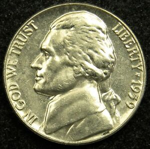 1959 UNCIRCULATED JEFFERSON NICKEL BU  B05