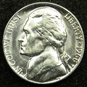 1968 D UNCIRCULATED JEFFERSON NICKEL BU  B04