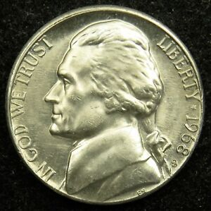 1968 S UNCIRCULATED JEFFERSON NICKEL BU  B03