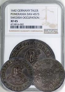 Click now to see the BUY IT NOW Price! POMERANIA. SWEDISH OCCUPATION. 1642 TALER / THALER NGC XF 45.    UNDERGRADED