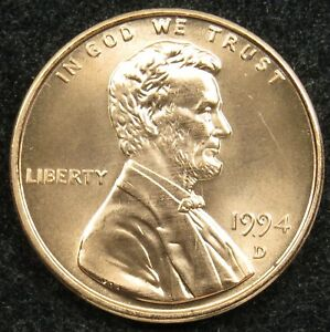 1994 D UNCIRCULATED LINCOLN MEMORIAL CENT PENNY BU  B02