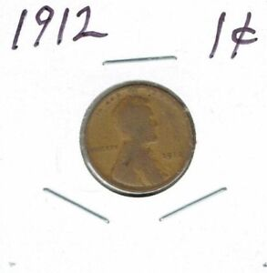 1912 PHILADELPHIA CIRCULATED BUSINESS STRIKE COPPER ONE CENT COIN