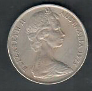 CIRCULATED AUSTRALIA 10 CENT COIN   1975