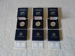 Click now to see the BUY IT NOW Price! 3 X US MINT 2010 W AMERICAN VETERANS DISABLED PROOF SILVER DOLLAR COIN SET & COA