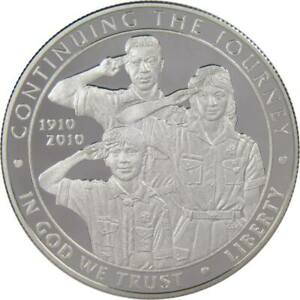 2010 P BOY SCOUTS OR AMERICA CENTENNIAL COMMEMORATIVE SILVER DOLLAR CHOICE PROOF