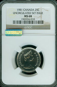 Click now to see the BUY IT NOW Price! 1981 CANADA 25 CENTS NGC MAC MS68 PQ  2ND FINEST REGISTRY SPOTLESS