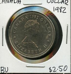 1982 CANADA 125TH CONFEDERATION   CONSTITUTION ANNIVER. COMMEM. $1 DOLLAR FC168