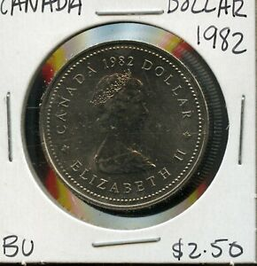 1982 CANADA 125TH CONFEDERATION   CONSTITUTION ANNIVER. COMMEM. $1 DOLLAR FC174
