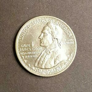 Click now to see the BUY IT NOW Price! 1928 HAWAIIAN SESQUICENTENNIAL SILVER COMMEMORATIVE HALF DOLLAR MINTAGE: 10 008