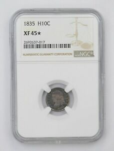 XF45 STAR 1835 CAPPED BUST HALF DIME   NGC GRADED  4534