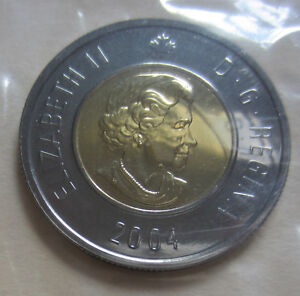 2004 CANADA PROOF LIKE TWO DOLLAR COIN. MINT CELLO UNC TOONIE.  ID   D276